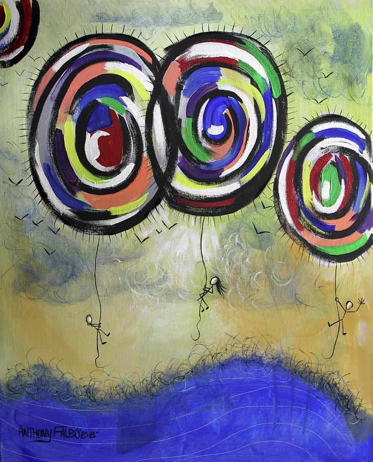 Abstract Painting - Free 2 Corinthians 3-17 by Anthony Falbo