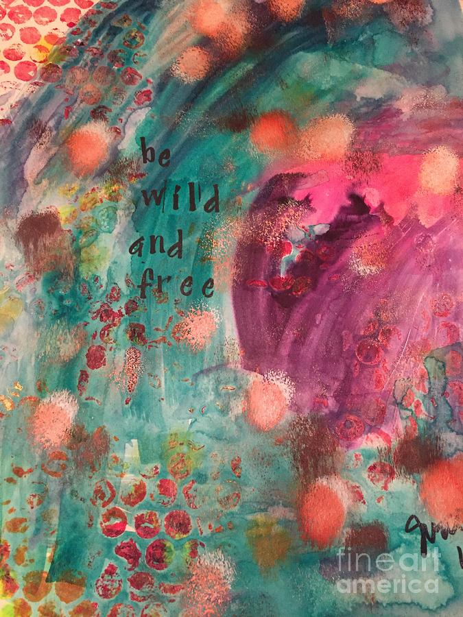 Contemporary Abstract Mixed Media - Free and Wild by Jessica Waters