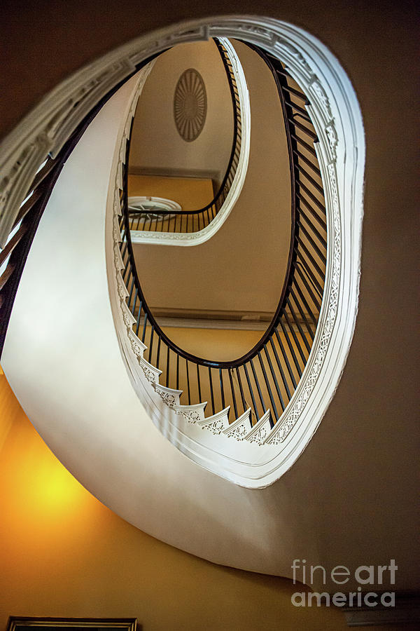 Free Floating Spiral Staircase - Nathaniel Russell House by Dale Powell