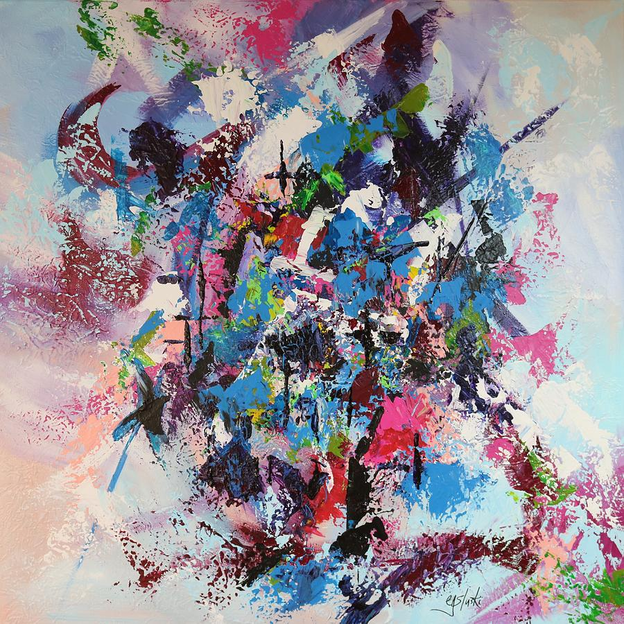 free form painting  Free Form Paint Me Bright Abstract Two