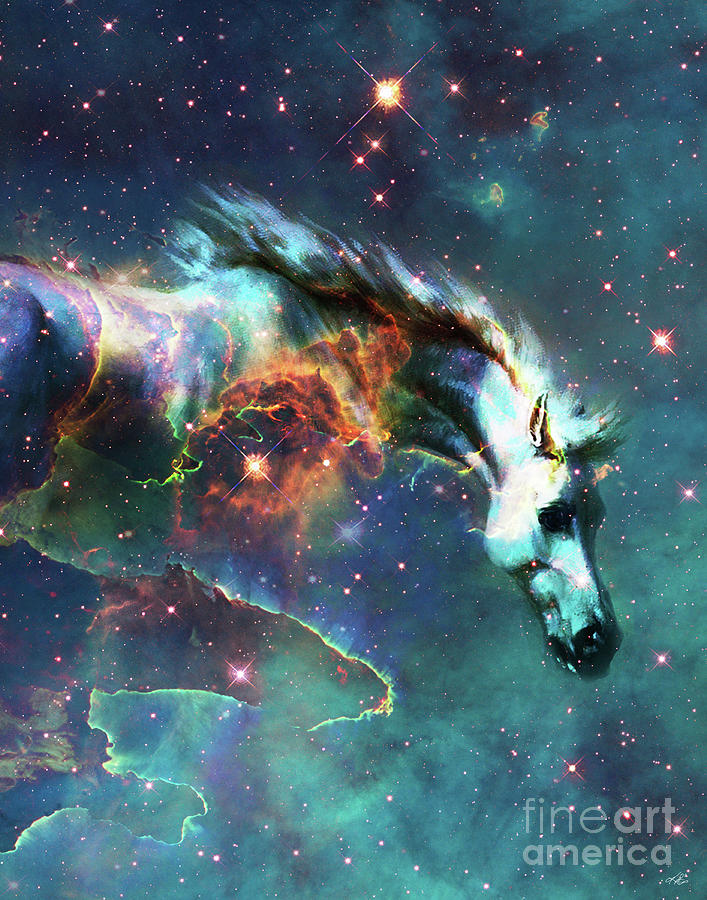Space Digital Art - Free of the Carousel II by Kenneth Rougeau