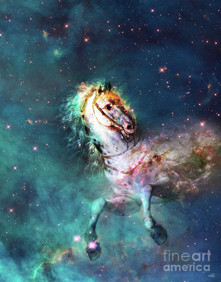 Space Digital Art - Free Of The Carousel by Kenneth Rougeau