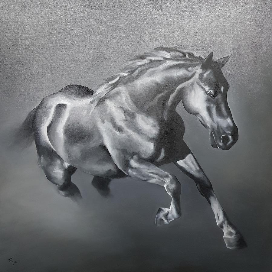 Horse Painting - Free Spirit by Francesca Provetti