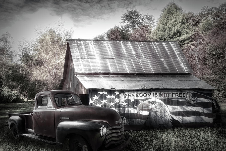 Freedom is not Free Black and White by Debra and Dave Vanderlaan