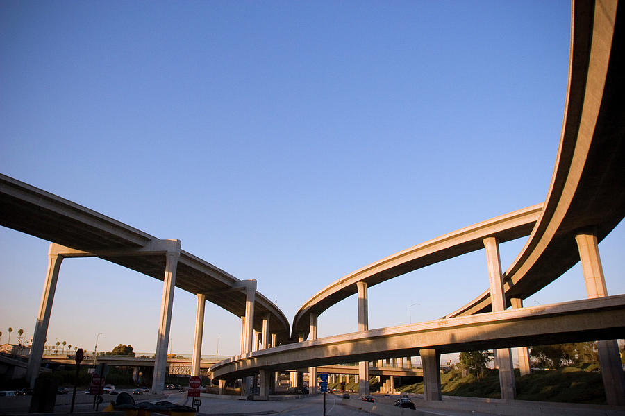 Freeway Interchange Photograph by P wei