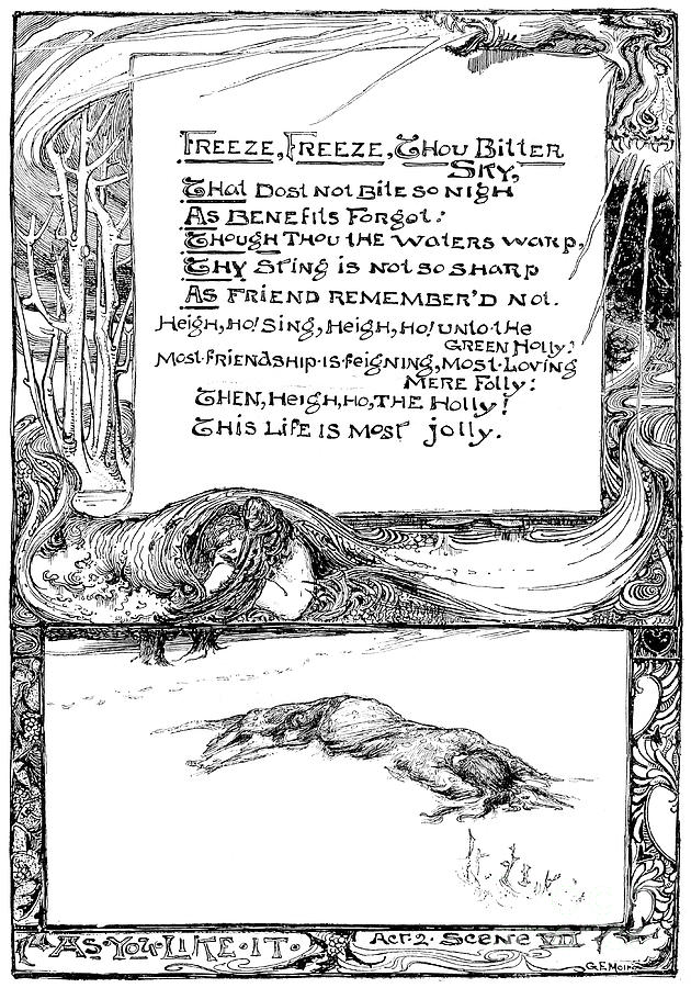 Freeze, Freeze, Thou Bitter Sky, 1895 Drawing by Print Collector