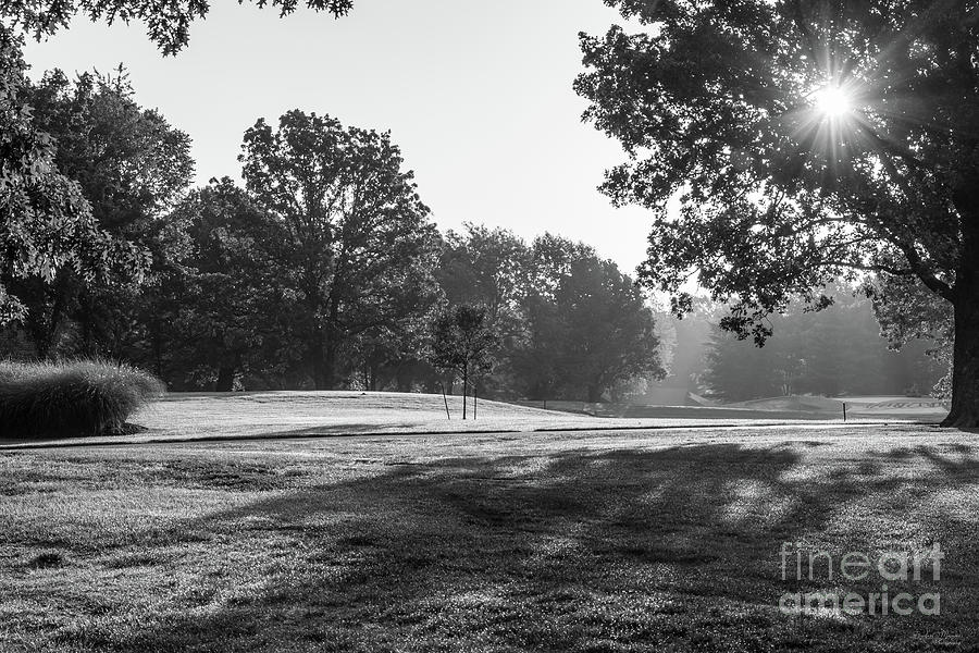 Fremont Hills Golf Course Morning Grayscale by Jennifer White
