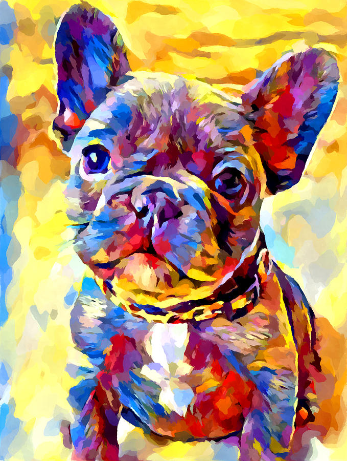 Dog Painting - French Bulldog 7 by Chris Butler