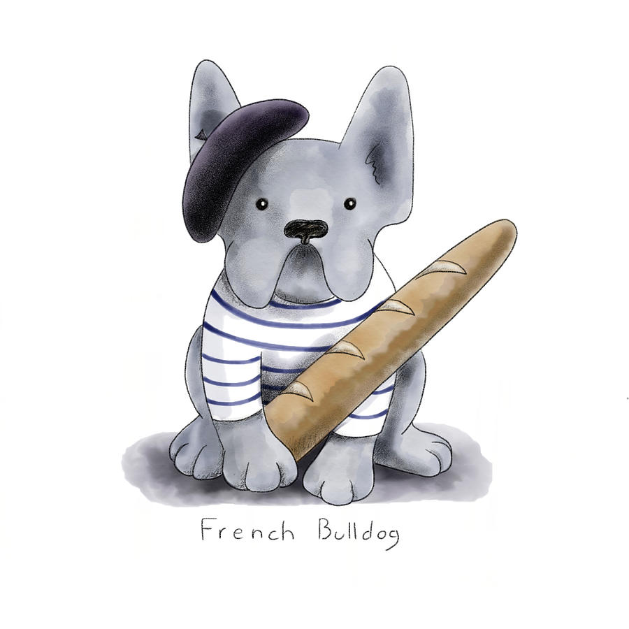 Dog Painting - French Bulldog by Christy Beckwith