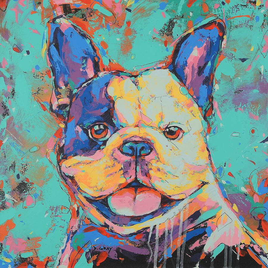 French Bulldog in Color by Damon Gray