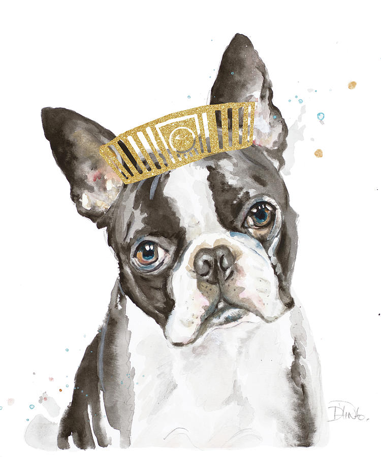 French Bulldog With Crown Painting By Patricia Pinto