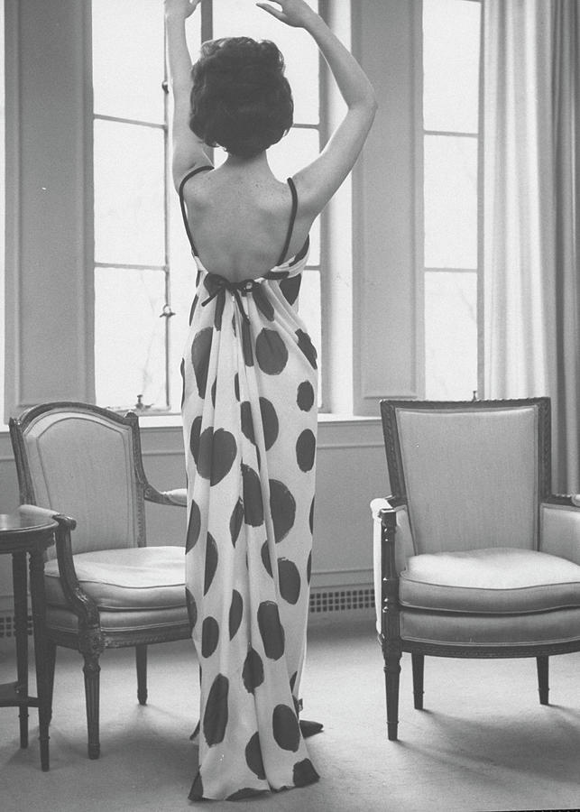 French Fashion Evening Dresses Sold At O Photograph by Ralph Morse