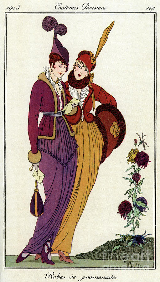 French Fashions Of The 20th Century Drawing by Print Collector