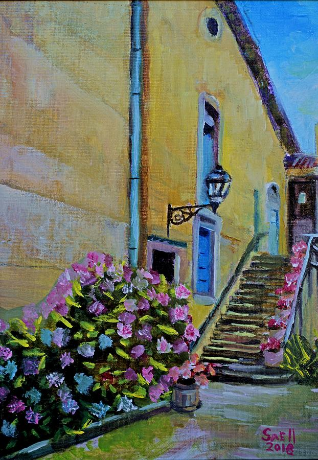 France Painting - French flowers by Roger Snell