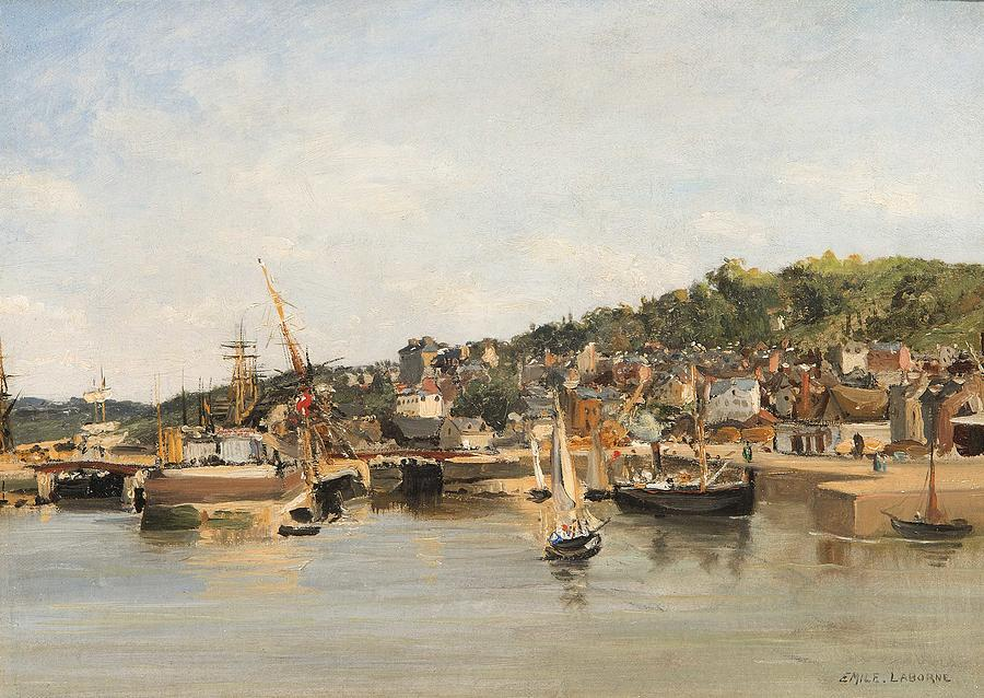 Nature Painting - French Harbour By Emile Laborne by Emile Laborne