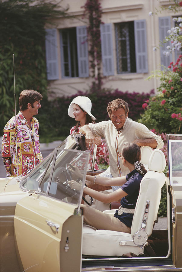 People Photograph - French Holiday by Slim Aarons
