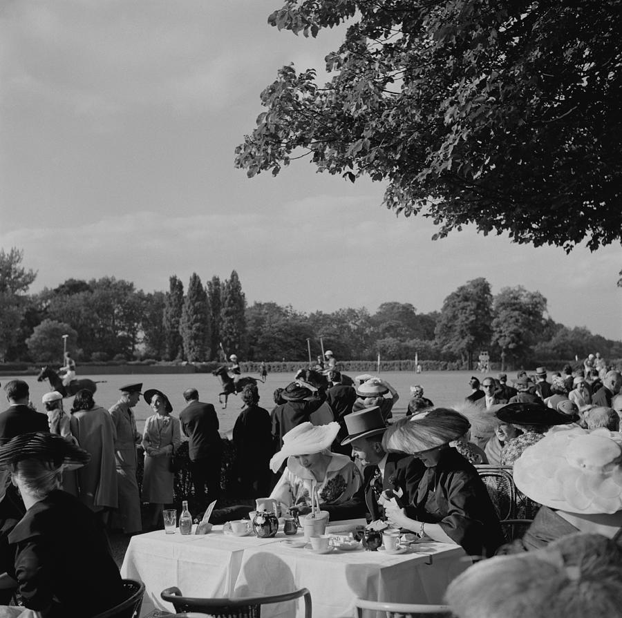 French Polo Crowd Photograph by Slim Aarons