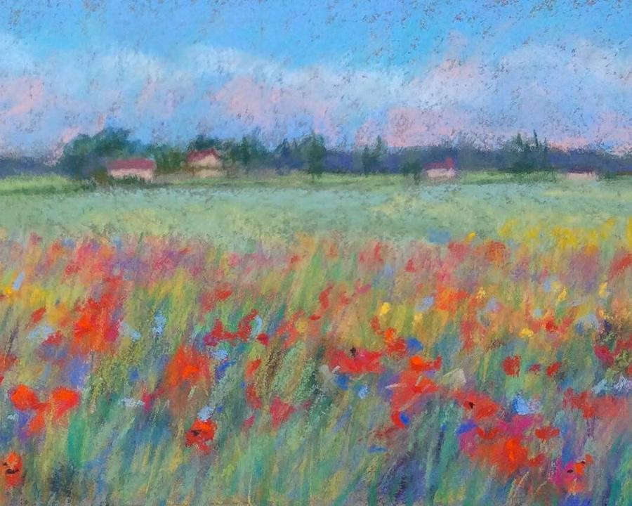 Pastel Painting - French Poppies by Marion Corbin Mayer