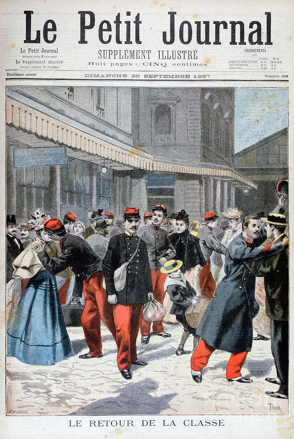 French Soldiers Returning Home, France Drawing by Print Collector
