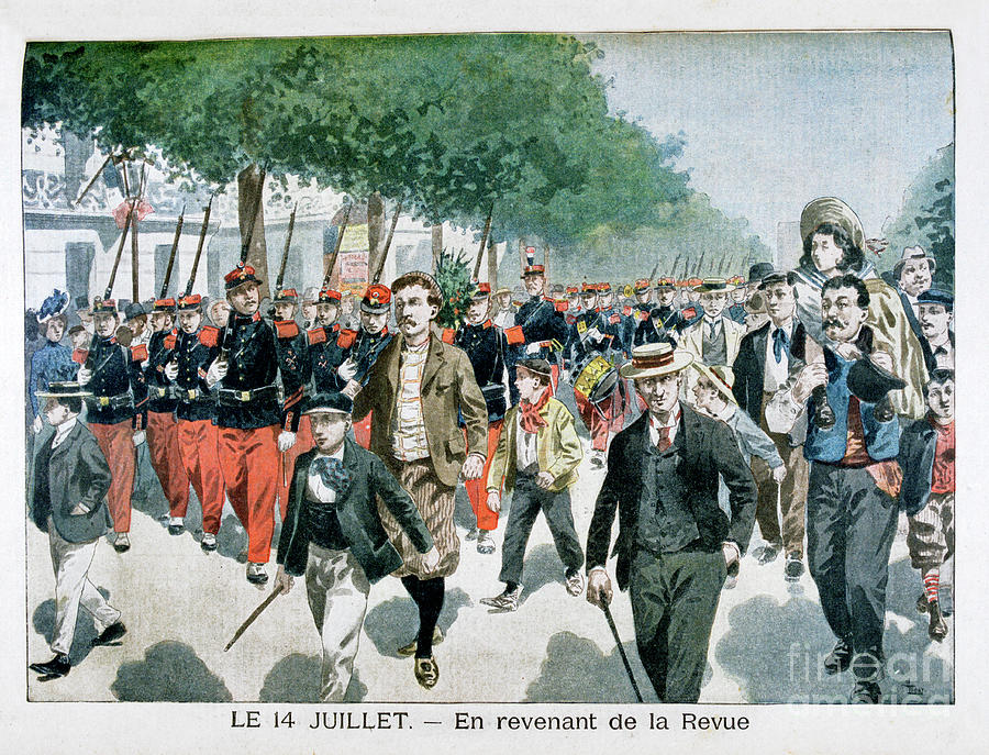 French Soldiers Returning Drawing by Print Collector