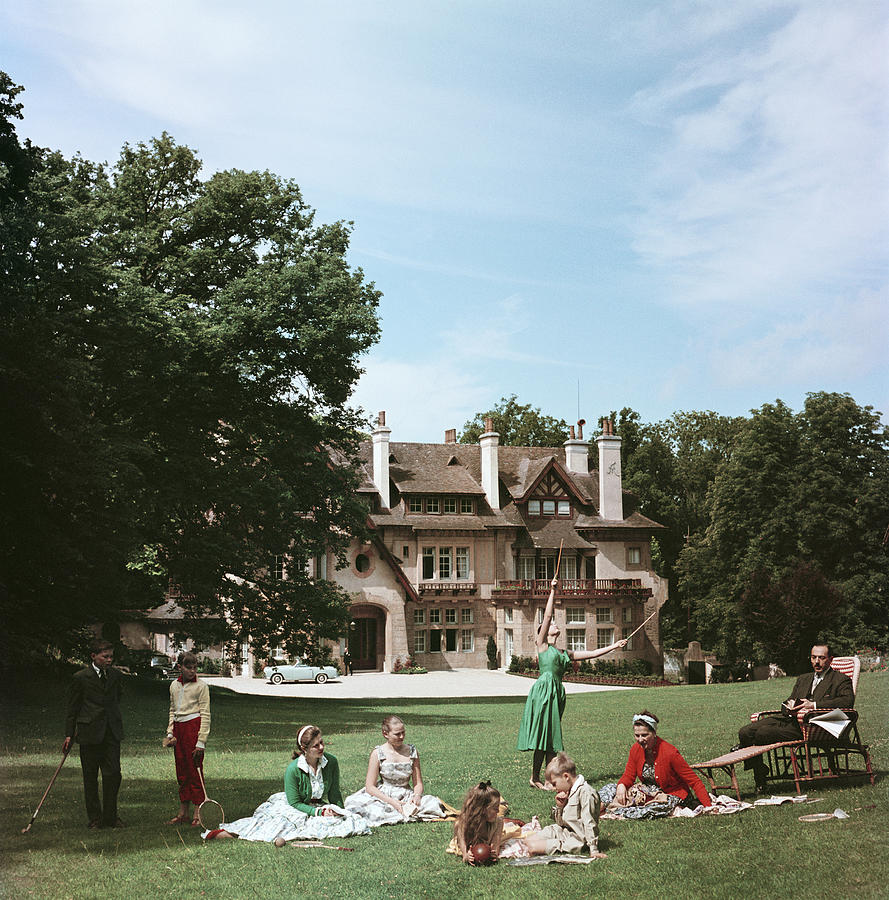 French Stately Home Photograph by Slim Aarons