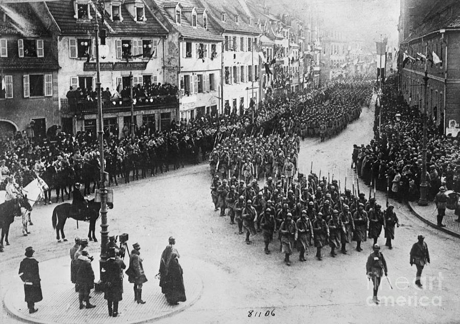 French Troops Entering Colmar Photograph by Bettmann