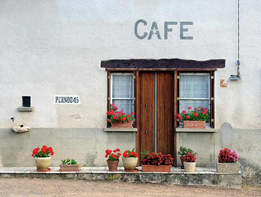 French Village Cafe Photograph by Pidjoe