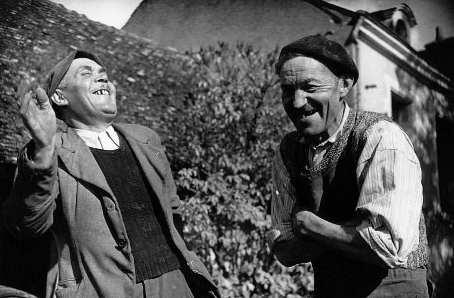French Villagers Photograph by Bert Hardy