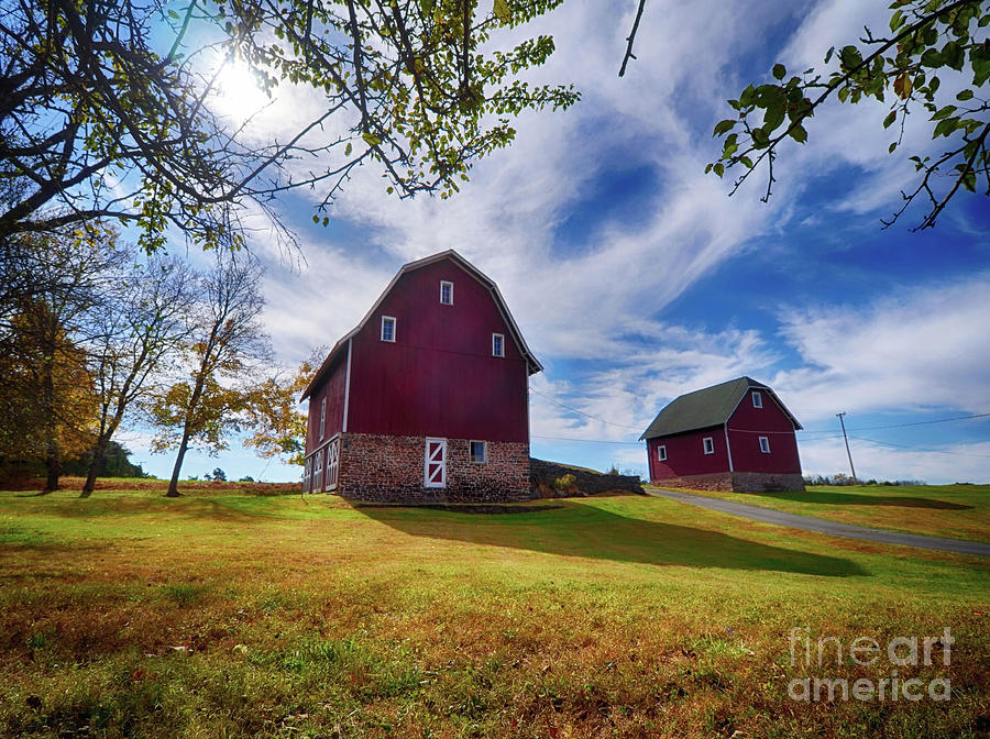 Frenchtown Barns #1 by Mark Miller