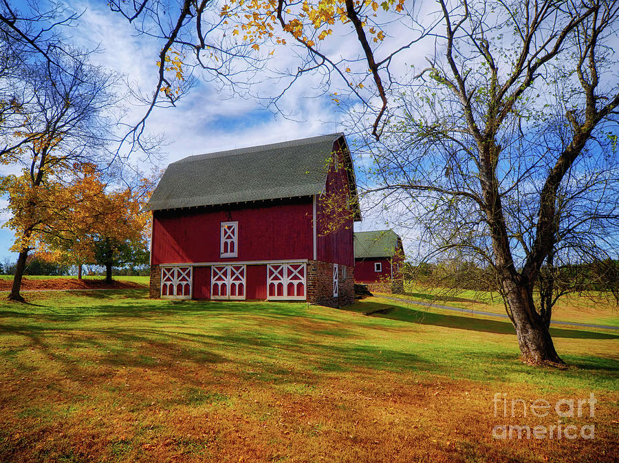 Frenchtown Barns #2 by Mark Miller