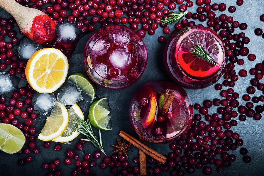 Fresh Cranberry Juice Cocktail, Ripe Photograph by Istetiana
