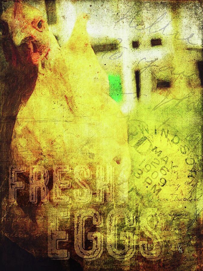 Fresh Digital Art - Fresh Eggs by Krista Droop