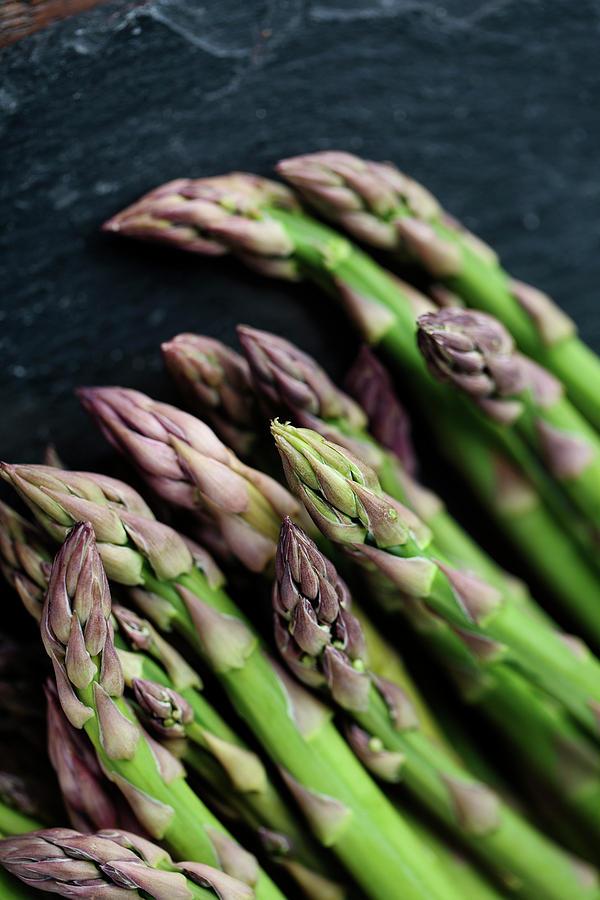 Fresh Green Asparagus by Nailia Schwarz