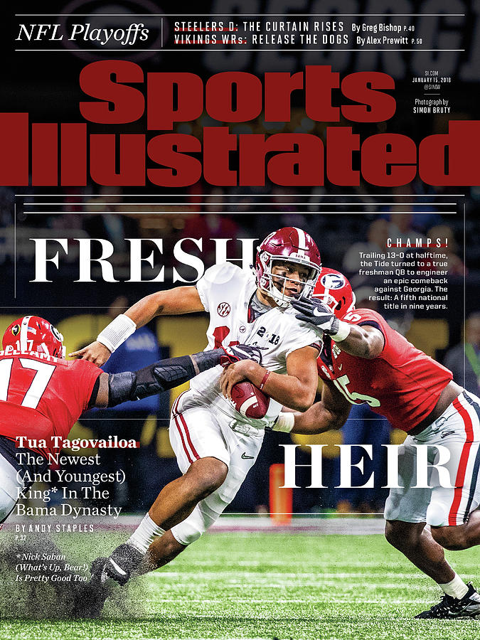 Fresh Heir Tua Tagovailoa, The Newest And Youngest King* In Sports Illustrated Cover Photograph by Sports Illustrated