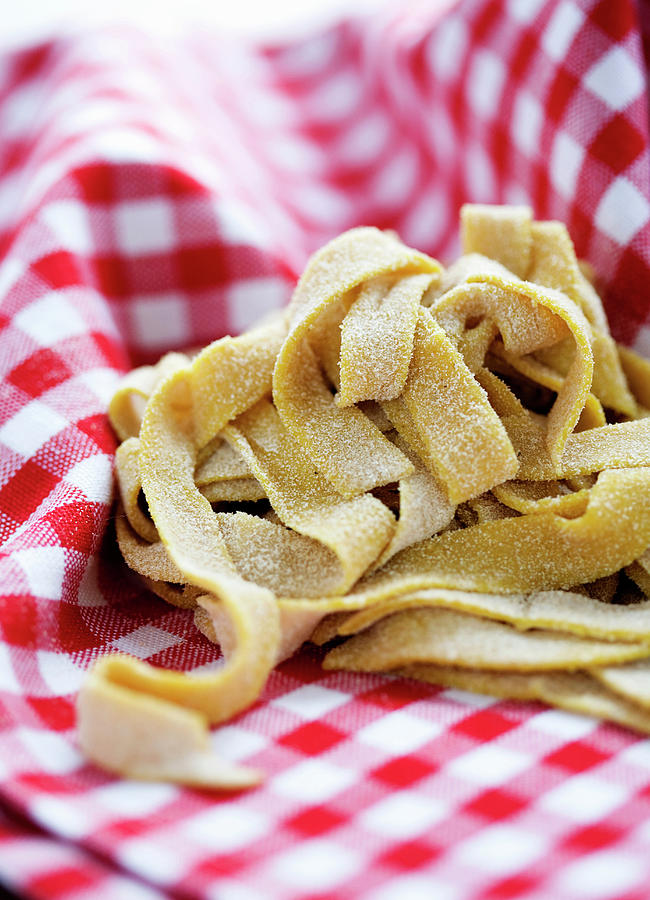 Fresh Pasta In Cloth Photograph by Line Klein