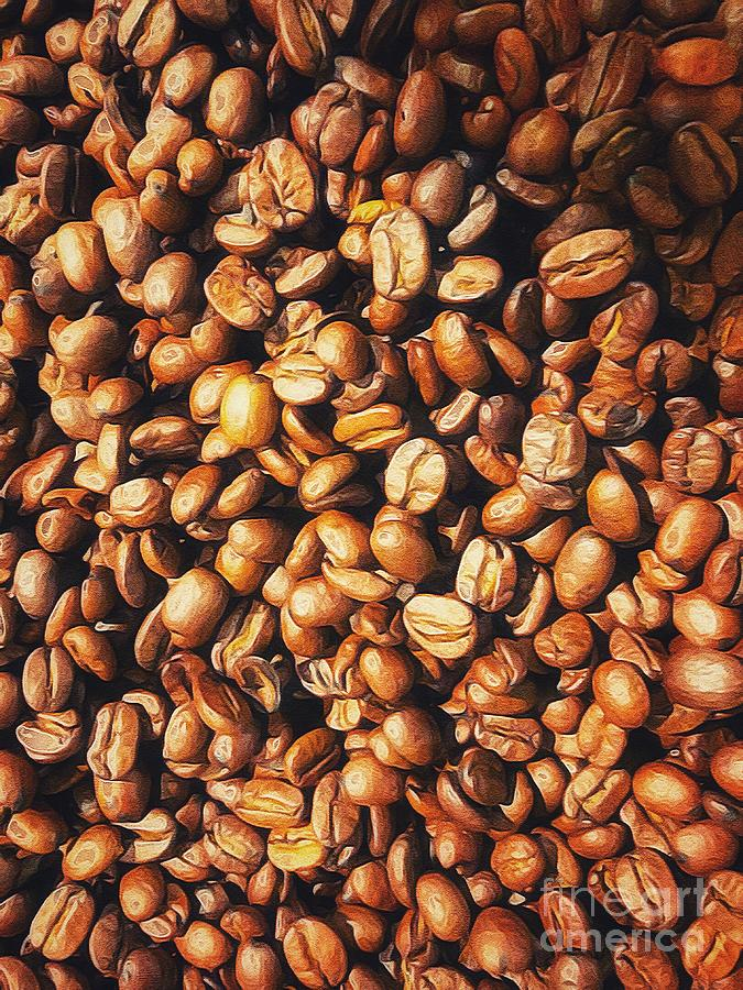 Fresh roasted Coffee Beans by Paul Wilford