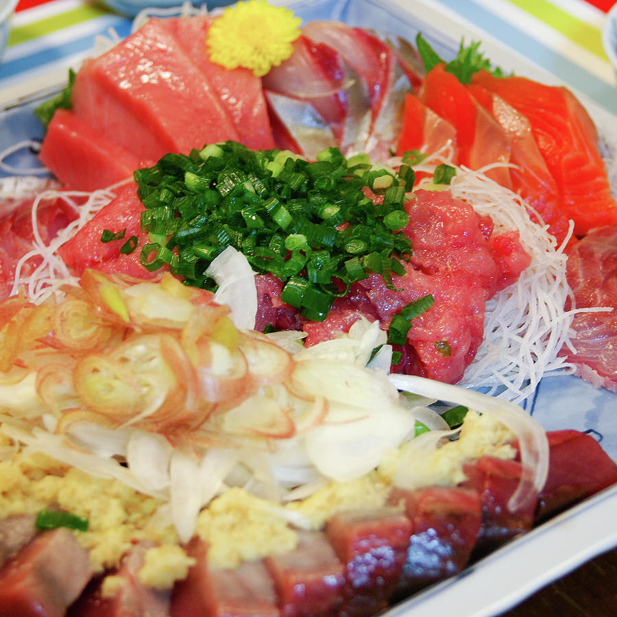 Fresh Sashimi Raw Fish Plate At Home Photograph by Ippei Naoi