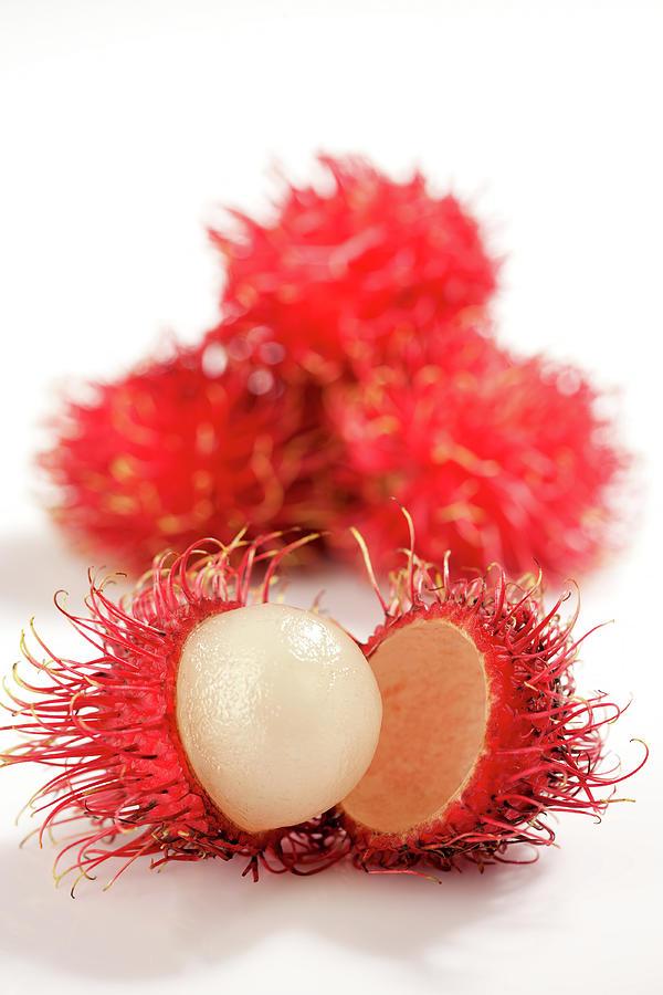 Fresh Thai Rambutans Photograph by Enviromantic