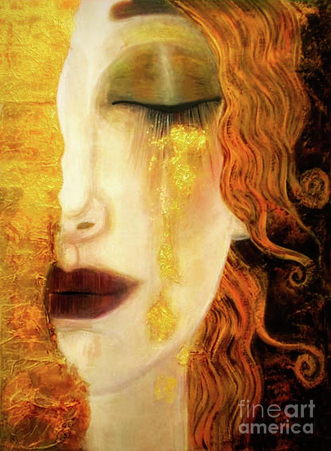 Freya's Golden Tears Vintage Mythological Viking Woman by Tina Lavoie