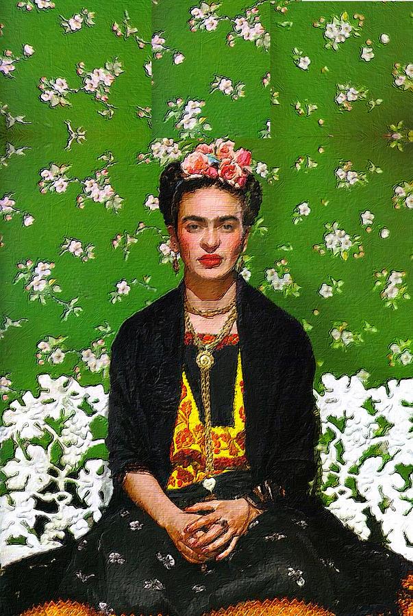 Frida Kahlo Green by Tony Rubino