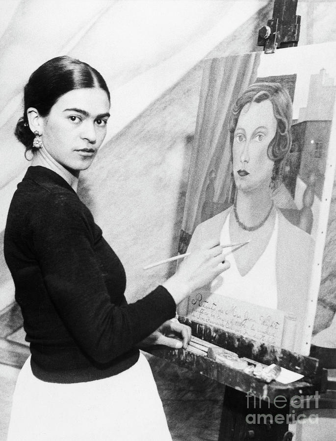 Frida Kahlo Painting Photograph by Bettmann