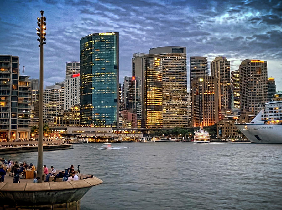 Friday Evening at Circular Quay by Tony Crehan