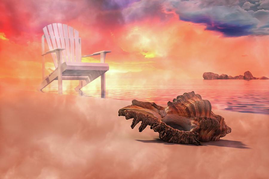 Friends By The Sea 3d Render Digital Art