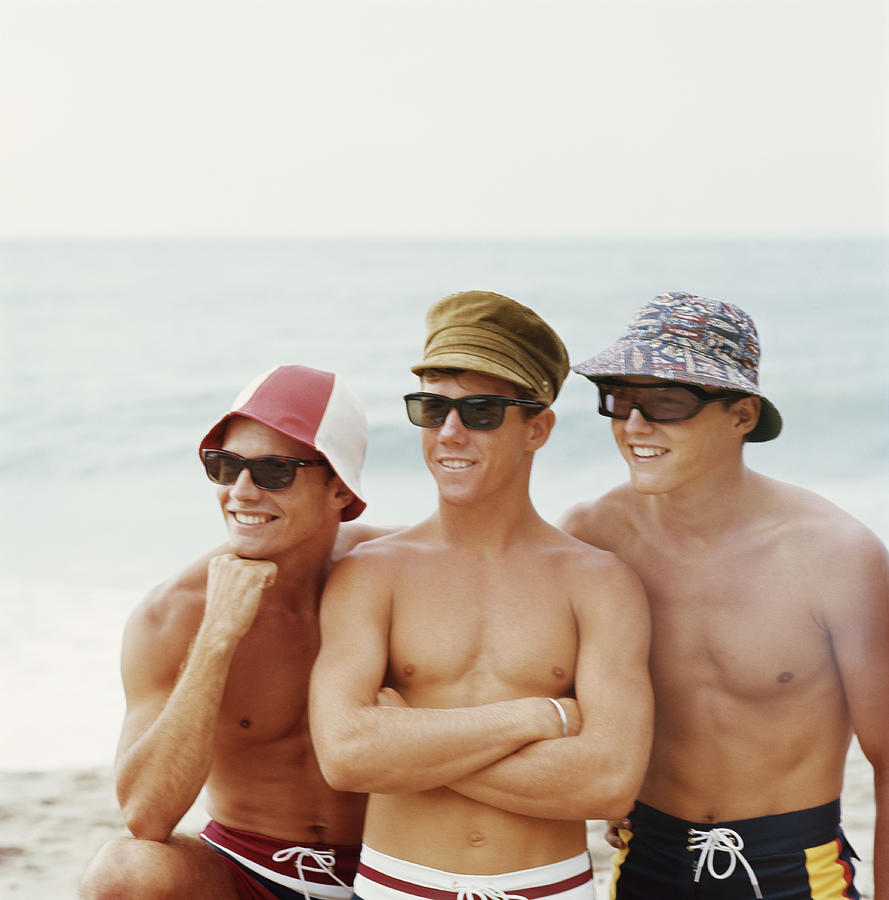 Friends Having Fun Beach, Smiling Photograph by Tom Kelley Archive
