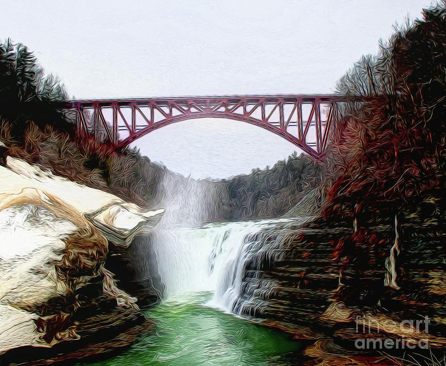 Frletchworth railroad and Falls by Jim Lepard