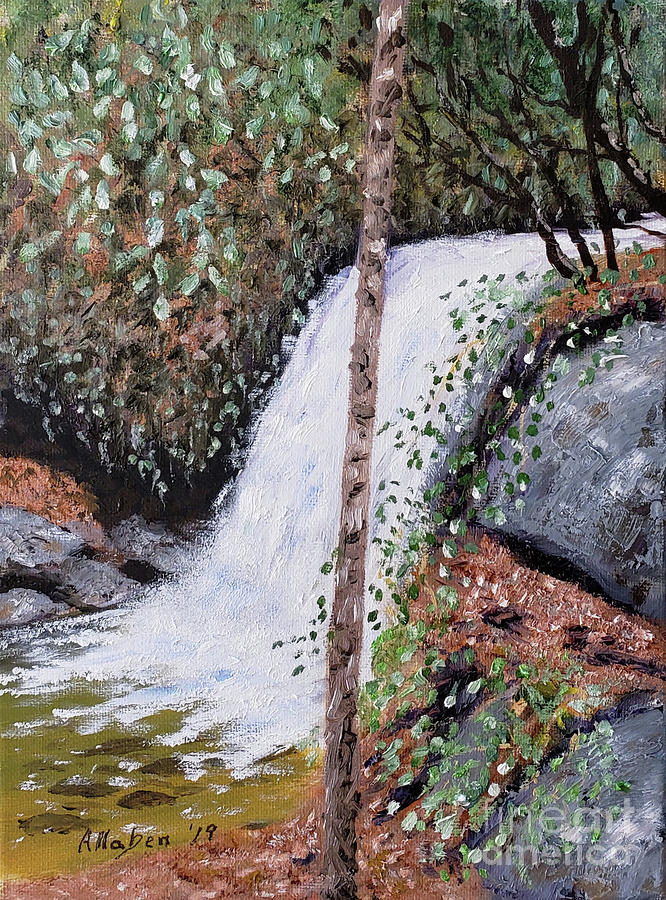Waterfall Painting - Frolictown Falls by Stanton Allaben