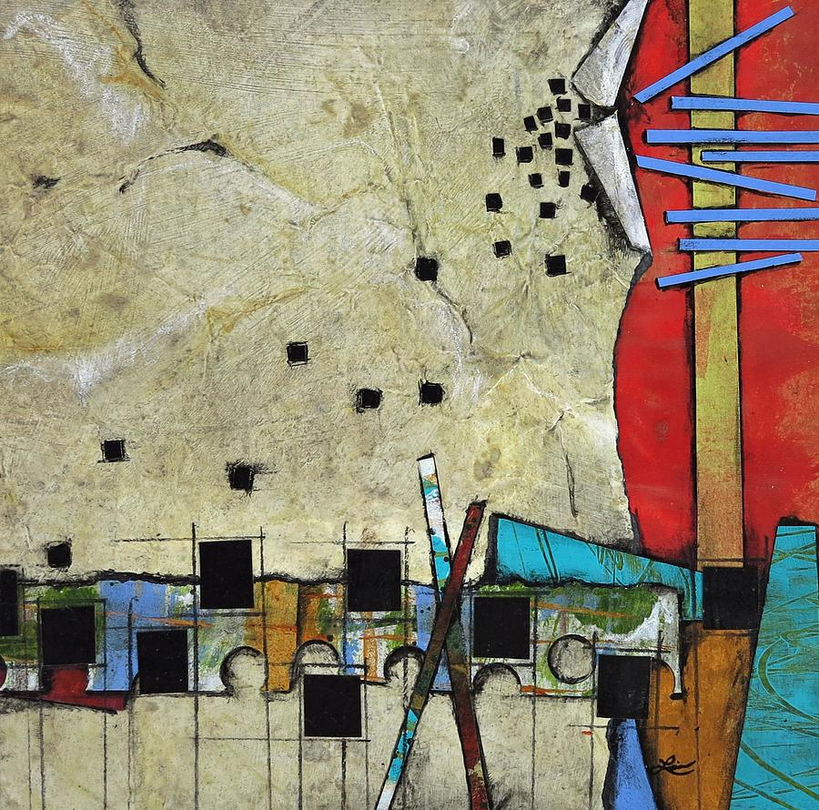 Collage Mixed Media - From Space  by Laura Lein-Svencner