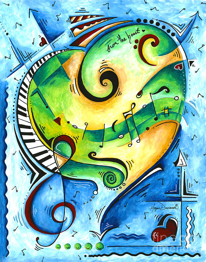 From the Heart Musical PoP Art Painting by Megan Duncanson by Megan Duncanson