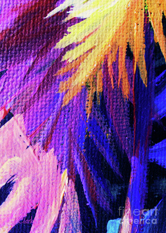 Abstract Painting - Fronds by John Clark