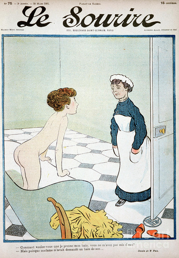 Front Cover Of Le Sourire Magazine Drawing by Print Collector